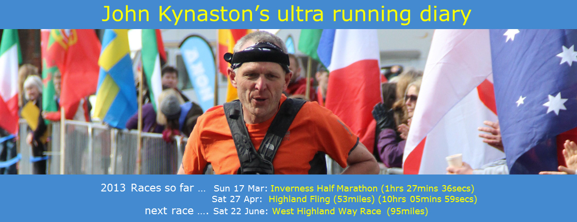 John Kynaston&#39;s ultra running diary